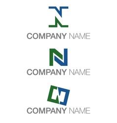 Letter n logo variations vector