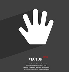 Hand icon symbol flat modern web design with long vector