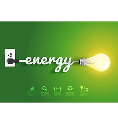 Energy saving and simple light bulb vector