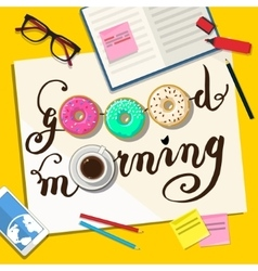Good morning note vector
