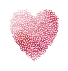 Big heart shape filled with hearts vector