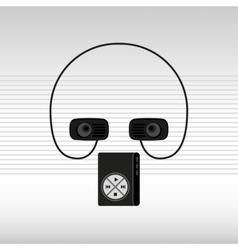 Musical sound icon design vector