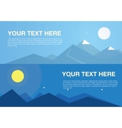 Horizontal mountains banners vector
