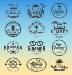 Modern retro insignia for summer holidays vector