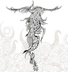 Bird phoenix tattoo vector