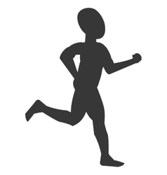 Silhouette of person jogging vector