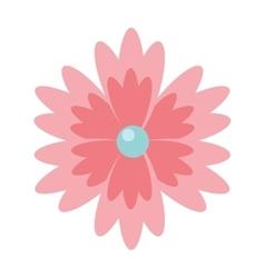 Beautiful flower garden isolated icon design vector