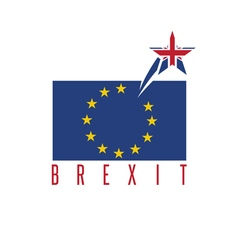 Brexit concept with united kingdom and eu flags vector