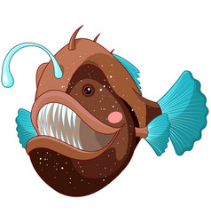 angler fish vector image vector image
