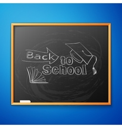 Back to school written on blackboard vector image vector image