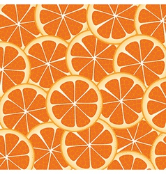 Background of many wealthy orange slices on each o vector