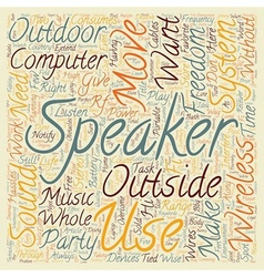 Be free with wireless speakers text background vector image vector image