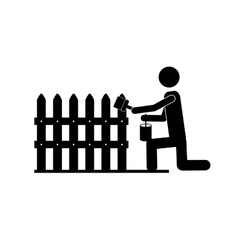 Contractor or handy man icon image vector