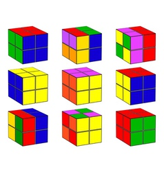 cubes with different color vector image vector image