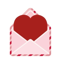 Cute heart envelope love message vector
