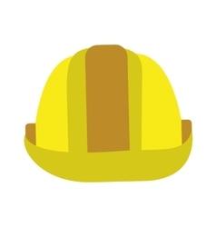 Helmet construction isolated flat design vector