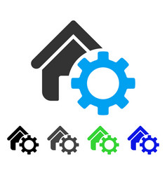 Homepage options gear flat icon vector