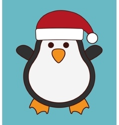 Kawaii penguin of christmas season design vector
