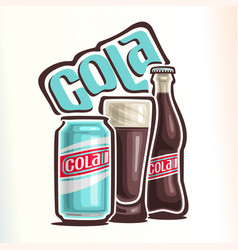 Logo for cola vector