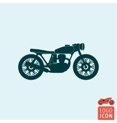 Motorcycle icon isolated vector