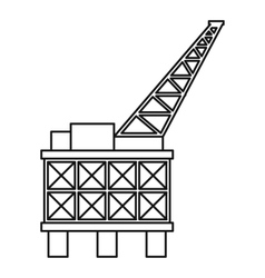 Oil platform icon outline style vector