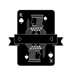 Poker king of spades playing card banner design vector
