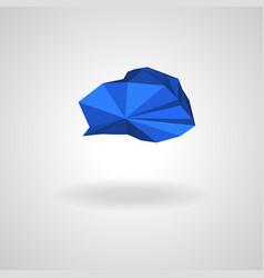 polygonal blue cloud with shadow vector image vector image