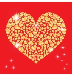 Sparkling heart with many small hearts inside vector image