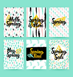 Spring nature trendy posters vector