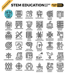 Stem sciencetechnologyengineeringmath education vector