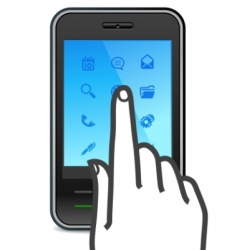 touch screen smartphone icon vector image vector image