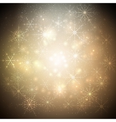 Golden christmas background with glowing shiny vector