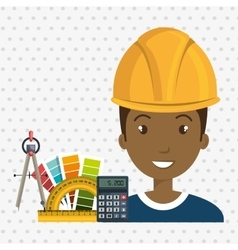 Architect tool man work vector