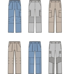 Work pants set vector