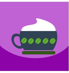 Flat icon design collection cappuccino vector