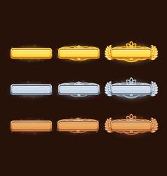 bronze silver and golden cartoon title vector image