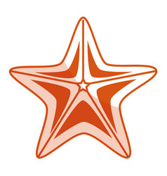 starfish summer isolated icon vector image