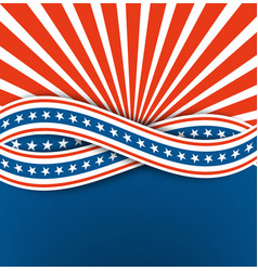 the us independence dayabstract backgroundblue vector image