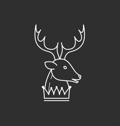 deer head and crown vector image