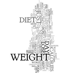 You don t need to go on a diet to lose weight vector