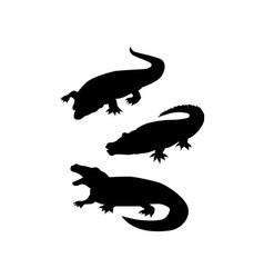 Reptile silhouettes vector