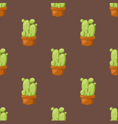 Cactus nature desert flower green mexican vector