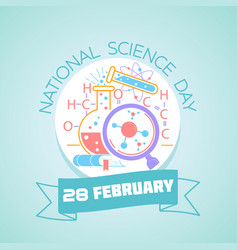 28 february national science day vector