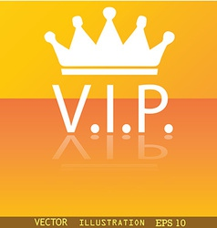 Vip icon symbol Flat modern web design with vector image