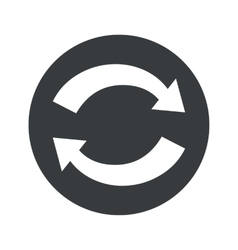 Monochrome round exchange icon vector