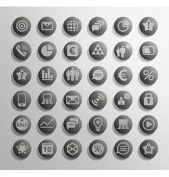 Icon set of elements vector