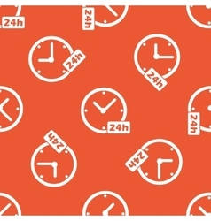 Orange 24h workhours pattern vector