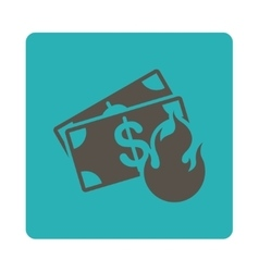 Fire accident icon from commerce buttons overcolor vector