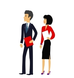 Male and female as office businesspeople icon vector