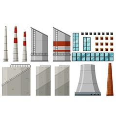 Different building design for factory vector